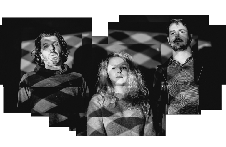 Press image for three piece band Percolator